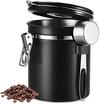 ポイント2倍 HAILIX コーヒー キャニスター 別倉庫からの配送 コーヒー豆 保存容器 タイムロッキングコンテナ 304ステンレス 真空密封 糖 密封容器 1500ML 香料 お菓子 日付表示ダイヤル 茶筒 防湿保存 訳あり