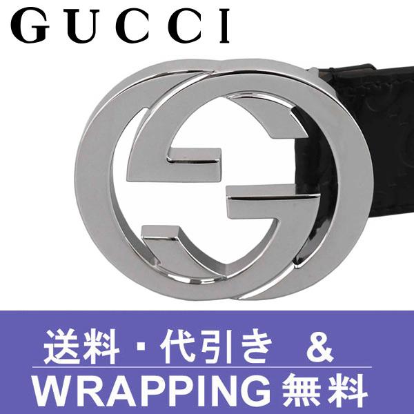 グッチ【GUCCI】ベルトGG ブランド シグネチャー レザー ブラック 411924 CWC1N 1000【送料無料】
