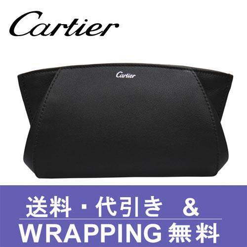 【Cartier】カルティエ ポーチ/クラッチバッグ レディース C ドゥ カルティエ ブラック L3001478【送料無料】
