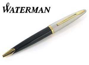 【WATERMAN】ウォーターマン ボールペン カレン デラックス ブラック&シルバーBP ボールペン【送料無料】
