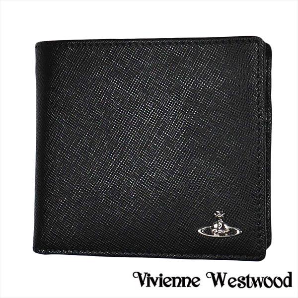 ヴィヴィアン 財布【Vivienne Westwood】ヴィヴィアン ウエストウッド 二つ折り財布(小銭入れ付) メンズ ブラック 51010016 KENT BLACK【送料無料】