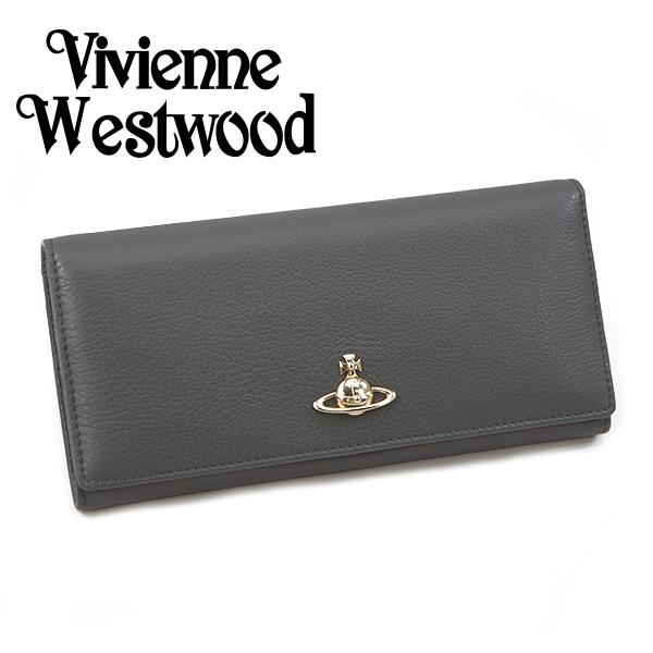 ヴィヴィアン 財布【Vivienne Westwood】ヴィヴィアン ウエストウッド 長財布(小銭入れ付) メンズ/レディース グレー 51120005 40212 P401【送料無料】