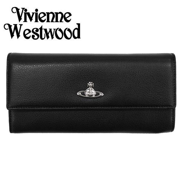 ヴィヴィアン 財布【Vivienne Westwood】ヴィヴィアン ウエストウッド 長財布(小銭入れ付) レディース ブラック 321555 SHEFFIELD【送料無料】