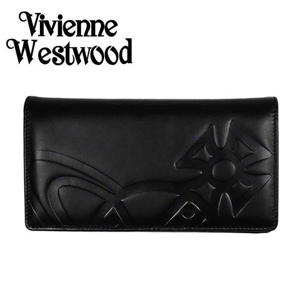 ヴィヴィアン 財布【Vivienne Westwood】ヴィヴィアン ウエストウッド 長財布(小銭入れ付) メンズ/ディース ブラック 51040010 GIANT ORB【送料無料】
