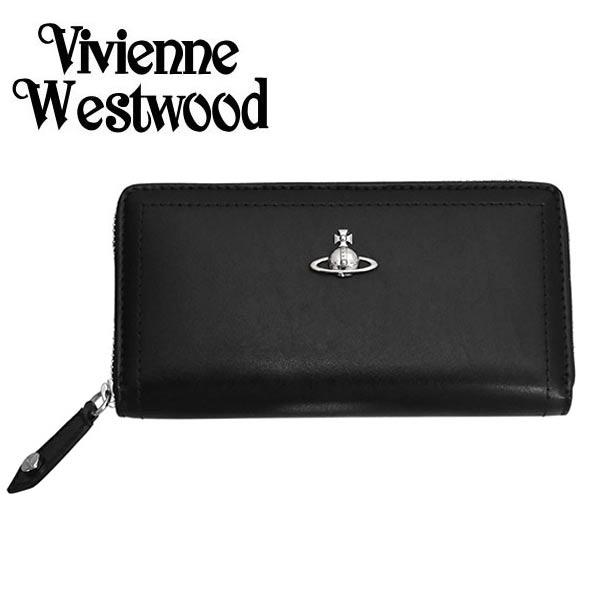 ヴィヴィアン 財布【Vivienne Westwood】ヴィヴィアン ウエストウッド ラウンドファスナー 長財布(小銭入れ付) レディース ブラック 51050022 CAMBRIDGE BLACK【送料無料】