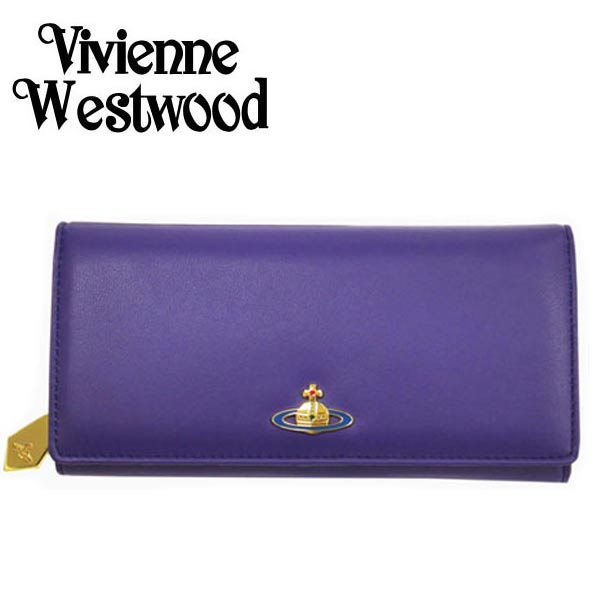 ヴィヴィアン 財布【Vivienne Westwood】ヴィヴィアン ウエストウッド 長財布(小銭入れ付) レディース バイオレット 1032V 30V NAPPA VIOLA【送料無料】