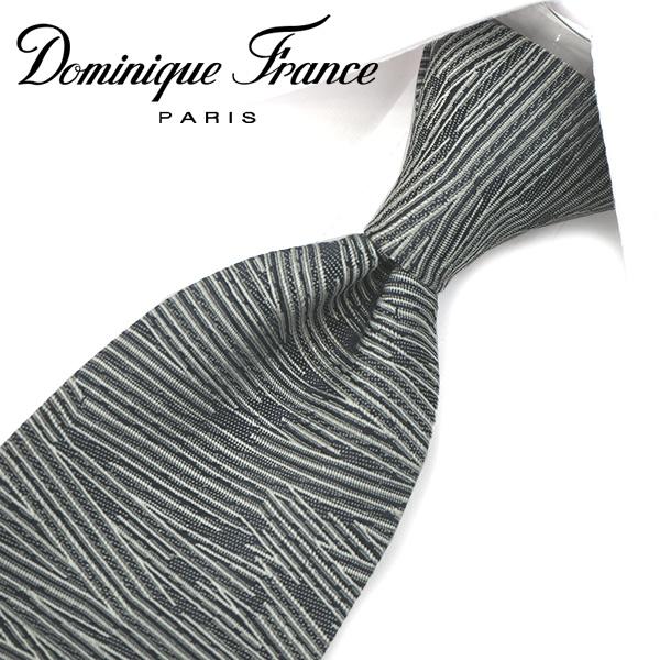 ドミニク・フランス ネクタイ(8cm幅) ツースター DF38【Dominique France・ドミニクフランス ネクタイ】 グレー ネクタイ ブランド【送料無料】