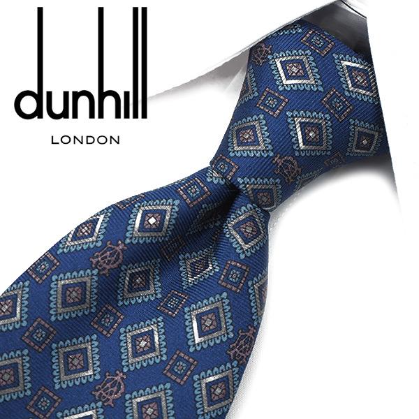 ダンヒル ネクタイ【dunhill】(8cm) DH8【ダンヒルネクタイ・ネクタイ ブランド】ブルー/グレー【送料無料】