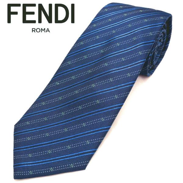 フェンディ ネクタイ(8cm) FFA45 【FENDI・フェンディネクタイ・ネクタイ ブランド】【送料無料】ブルー/L・ブルー