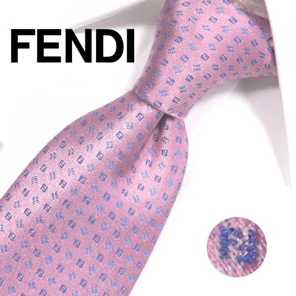 フェンディ ネクタイ(8cm) FFA64 【FENDI・フェンディネクタイ・ネクタイ ブランド】ピンク/ブルー【送料無料】