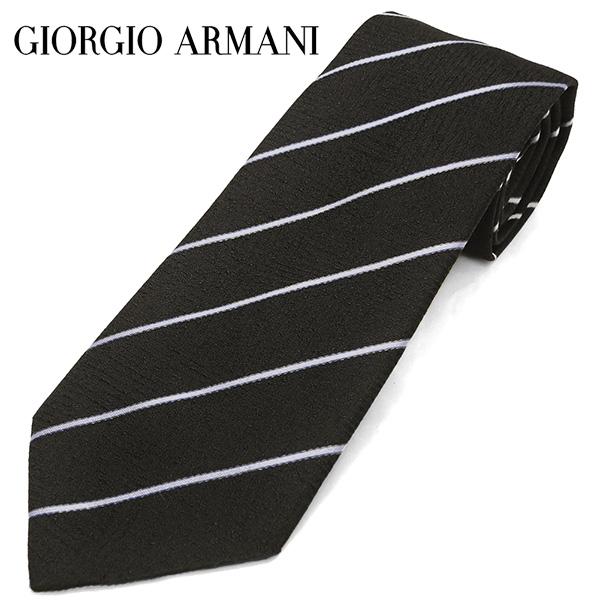 ジョルジオ・アルマーニ ネクタイ(8cm幅) GA79【GIORGIO ARMANI・アルマーニネクタイ】 ブラック/ブルーグレー ネクタイ ブランド【送料無料】