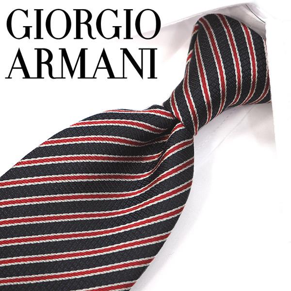 ジョルジオ・アルマーニ ネクタイ(8cm幅) GA96【GIORGIO ARMANI・アルマーニネクタイ】 ネイビー/レッド ネクタイ ブランド【送料無料】