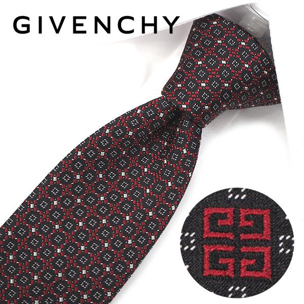 ジバンシー ナローネクタイ(6.5cm幅) 【GIVENCHY・ジバンシーネクタイ・ネクタイ ブランド】 ブラック/レッド GIV36【送料無料】