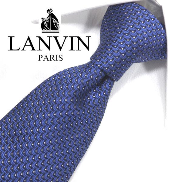 ランバン ネクタイ(8cm幅) LA70 【LANVIN・ランバンネクタイ・ネクタイ ブランド】 ネイビー 【送料無料】