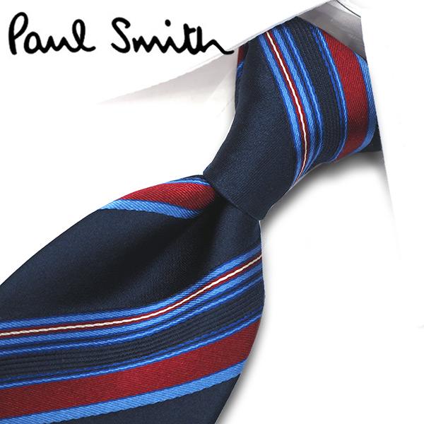 ポールスミス ネクタイ(8cm幅) PS117 【Paul Smith・ポールスミスネクタイ・ネクタイ ブランド】 ネイビー/レッド【送料無料】