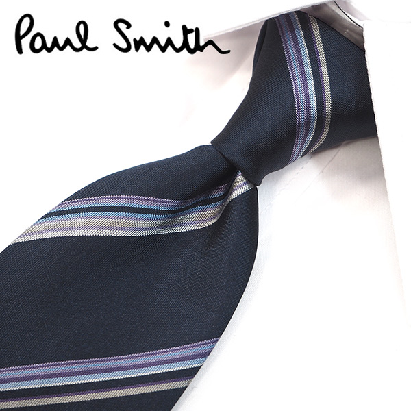 ポールスミス ネクタイ(8cm幅) PS89 【Paul Smith・ポールスミスネクタイ・ネクタイ ブランド】 ネイビー/ブルーグレー【送料無料】