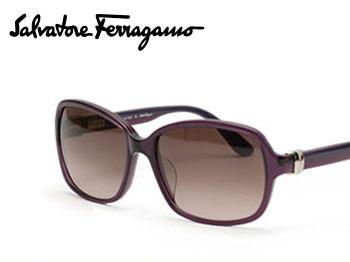 【Ferragamo】フェラガモ サングラス ブラック/スモークグラデーション SF606SA 001【送料無料】