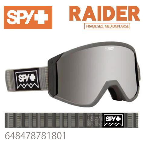 SPY スパイRAIDER レイダー648478781801ジャパンフィットフォーム バックル式ストラップDEEP WINTER GRAYスキー スノーボード スノボ ゴーグル