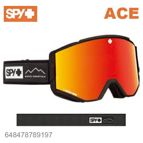 SPY スパイACE エース648478789197ジャパンフィットフォーム バックル式ストラップESSENTIAL BLACKスキー スノーボード スノボ ゴーグル