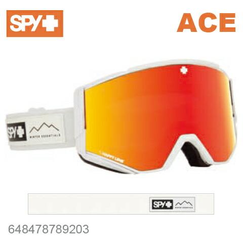 SPY スパイACE エース648478789203ジャパンフィットフォーム バックル式ストラップESSENTIAL WHITEスキー スノーボード スノボ ゴーグル