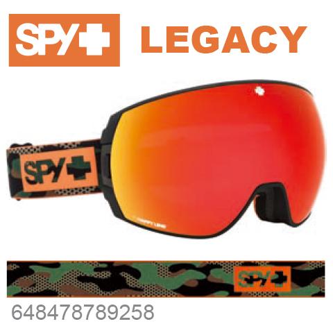 SPY スパイLEGACY レガシー648478789258ジャパンフィットフォーム バックル式ストラップCAMOスキー スノーボード スノボ ゴーグル