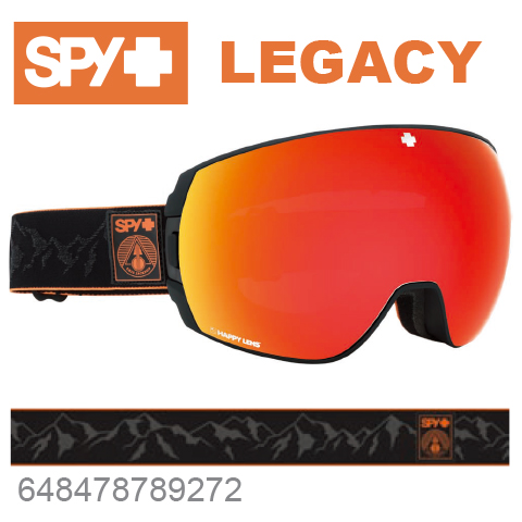 SPY スパイLEGACY レガシー648478789272ジャパンフィットフォーム バックル式ストラップSPY + ERIC JACKSONスキー スノーボード スノボ ゴーグル