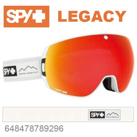 SPY スパイLEGACY レガシー648478789296ジャパンフィットフォーム バックル式ストラップESSENTIAL WHITEスキー スノーボード スノボ ゴーグル