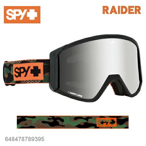 SPY スパイRAIDER レイダー648478789395ジャパンフィットフォーム バックル式ストラップCAMOスキー スノーボード スノボ ゴーグル