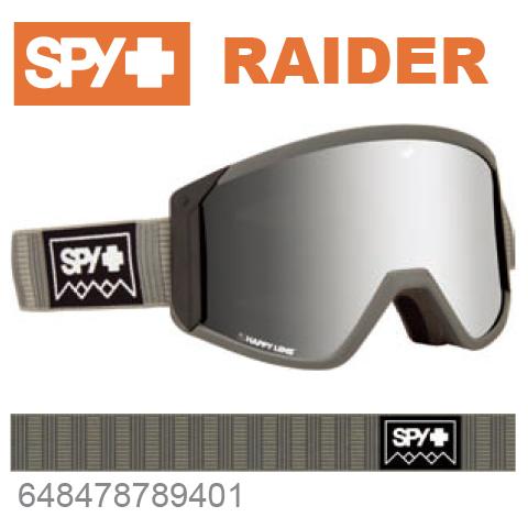 SPY スパイRAIDER レイダー648478789401ジャパンフィットフォーム バックル式ストラップDEEP WINTER GRAYスキー スノーボード スノボ ゴーグル