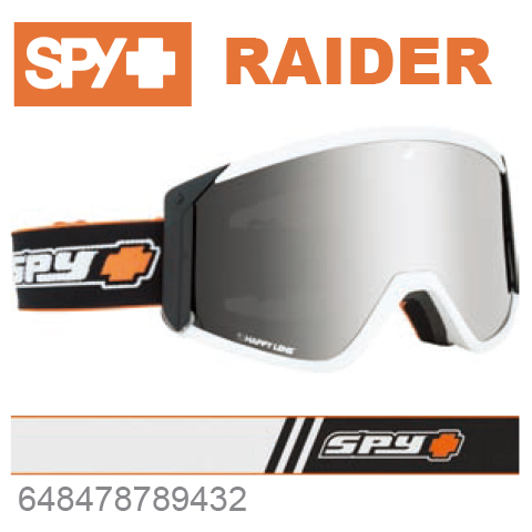 SPY スパイRAIDER レイダー648478789432ジャパンフィットフォーム バックル式ストラップOLD SCHOOL WHITEスキー スノーボード スノボ ゴーグル
