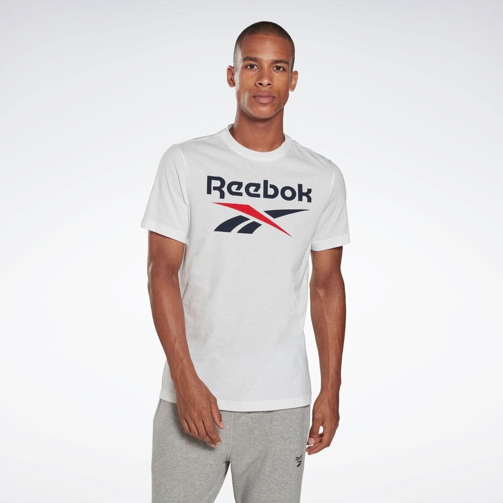 セール価格 Reebok レビューを書けば送料当店負担 リーボック 誕生日プレゼント グラフィック シリーズ スタックト Tシャツ Graphic Series 返品可 Stacked 公式 メンズ トレーニング 服 GI8506 ウェア Tee