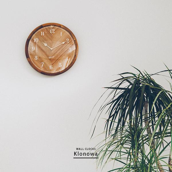 壁掛け時計 掛け時計 掛時計 円形 丸型 ナチュラルテイスト ナチュラルカントリー シンプル 北欧 カフェ おしゃれ モダン かわいい 木目 木製 ウッド 静か スイープムーブメント