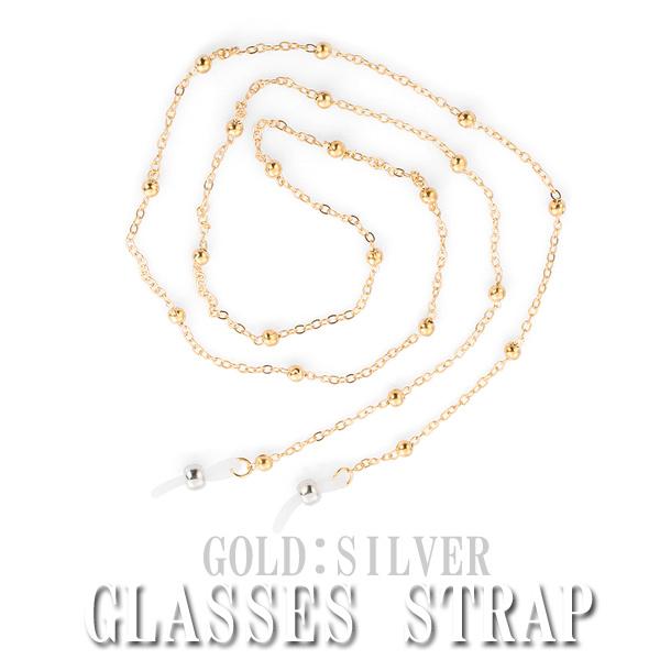 レディース メガネチェーン メガネストラップ おしゃれ 大放出セール グラスコード 老眼鏡 ゴールド シルバー 70cm 公式ショップ
