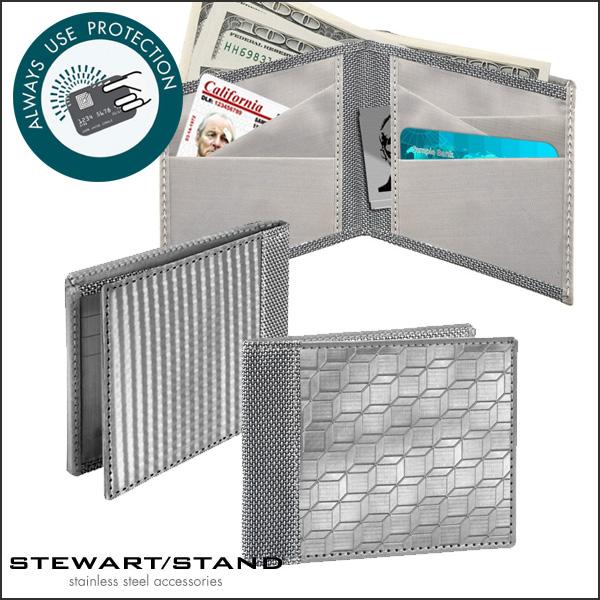 STEWART STAND スチュワートスタンド ステンレス財布 2つ折り財布 [BF3401/BF3101/二つ折り/超薄型]