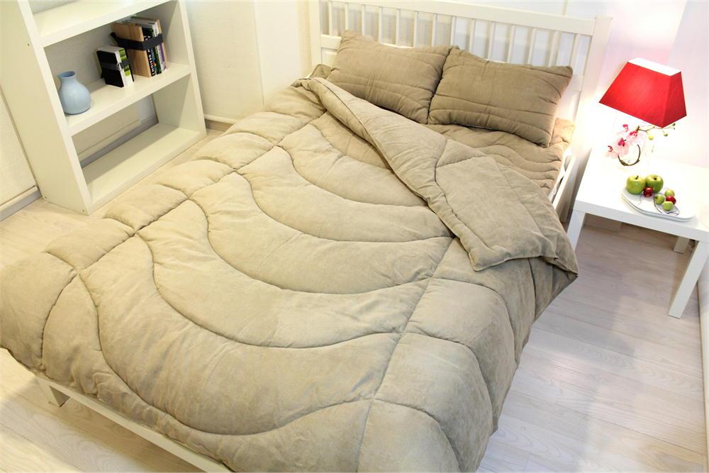 Danfill ダンフィル ベルクラウド 寝具セット(枕×2、掛け布団、オーバーレイ) ダブルサイズ