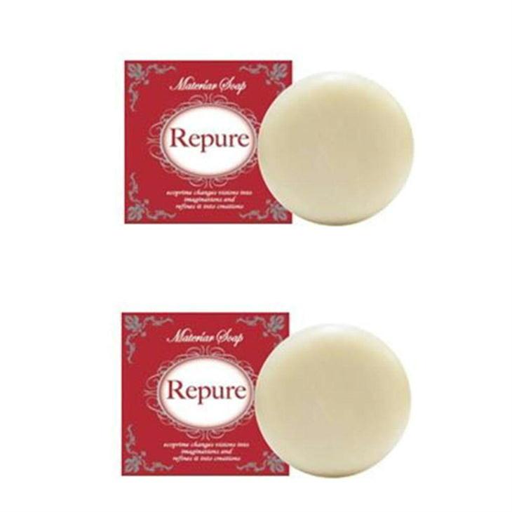 マテリアソープ Repure(リピュア)2個セット 日本ネオライズ 固形ソープ 洗顔石けん 石鹸 乳酸菌代謝物質