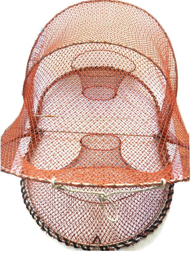 さがみや漁網店 籠網 金属口 漁具 かご網 魚仕掛け 漁網 日本製 小(G-9)