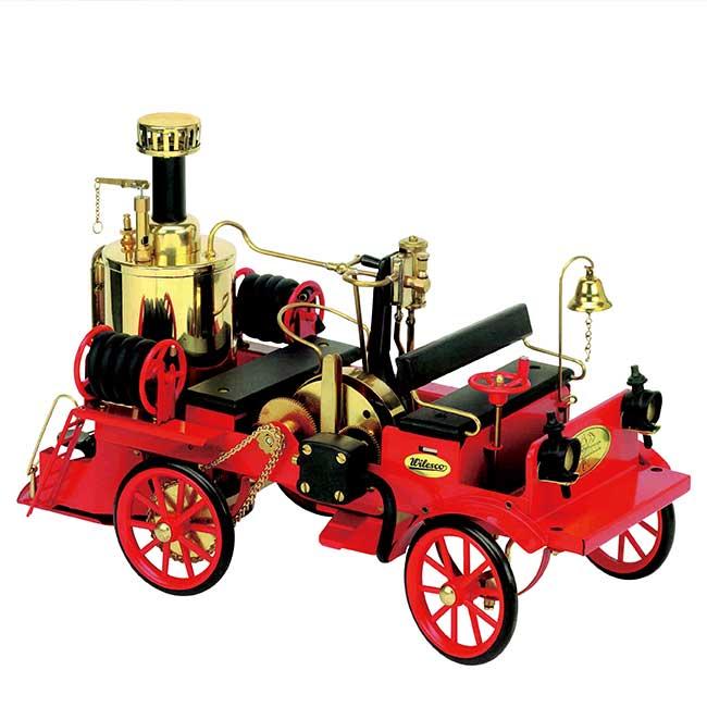 Wilesco ヴィレスコ 実働蒸気エンジン搭載 蒸気エンジン付ポンプ消防車 1/16スケール D305 ドイツ製蒸気式消防車 模型 ヴィルヘルム・シュレッダー社