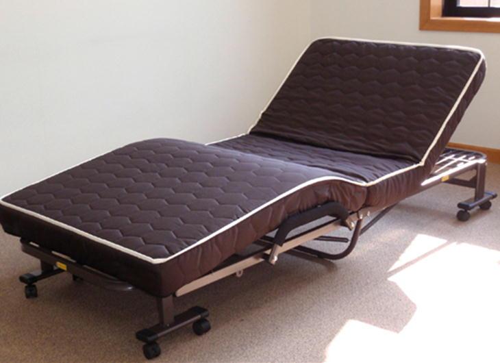 1年保証付 低反発ウレタン入り ダブルリクライニング 電動ベッド DE-90-T10 送料無料(沖縄、離島配送不可) 完成品
