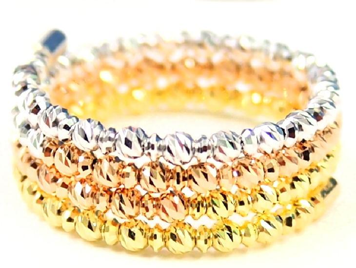 ジェイスパークル JEI SPARKLE K18 リング フリーサイズ(5号~23号対応) 18金 ゴールド 指輪 全3色