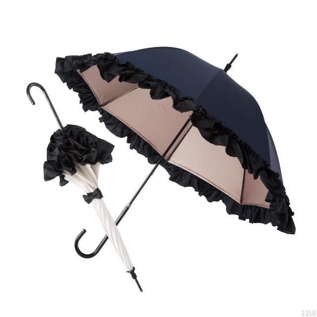 PROIDEA 白川みきのおリボンUVカット涼感日傘 オフホワイト×シャンパンベージュ 晴雨兼用 UVカット率99%以上 紫外線対策