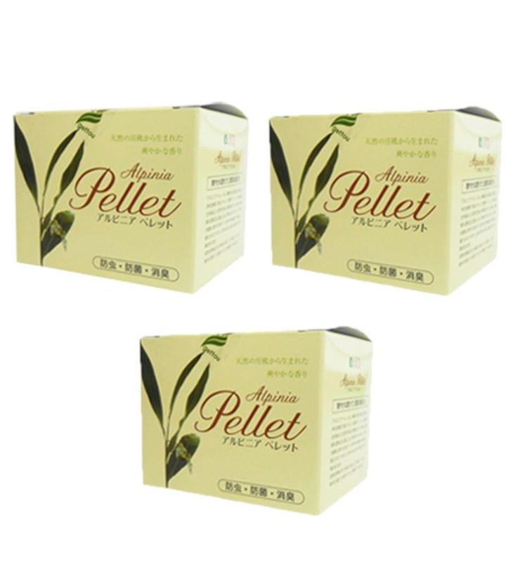 虫除け アルピニアペレット 3個セット 防虫・防菌・消臭・防カビ 洋服 クローゼット 防虫剤