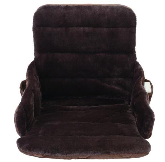 ゼンケン 腰すっぽりヒーター ZR-51HT 電磁波99%カット マイクロファイバー 座椅子型ヒーター