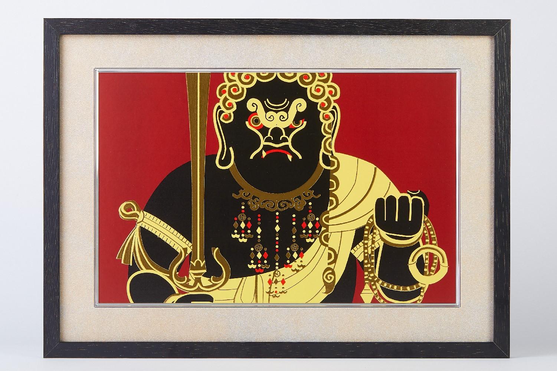 イスム HAKUジクレ pop'n Buddha 不動明王 中川学(ジクレー版画) 仏像 アートフレーム 絵画 仏画