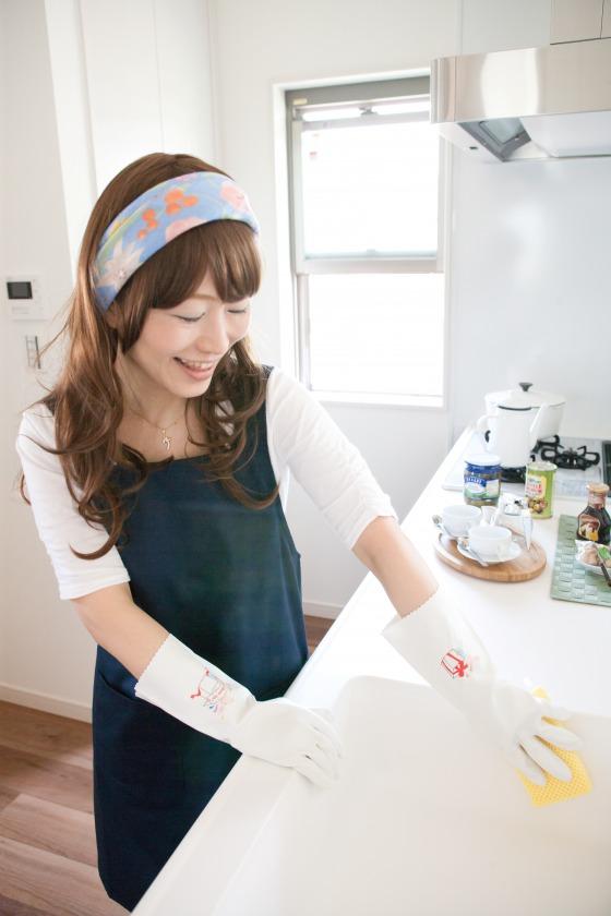love globes3 ラブグローブ3 4組セット イラストプリントゴム手袋 作業用手袋 おしゃれ 可愛い 日本製