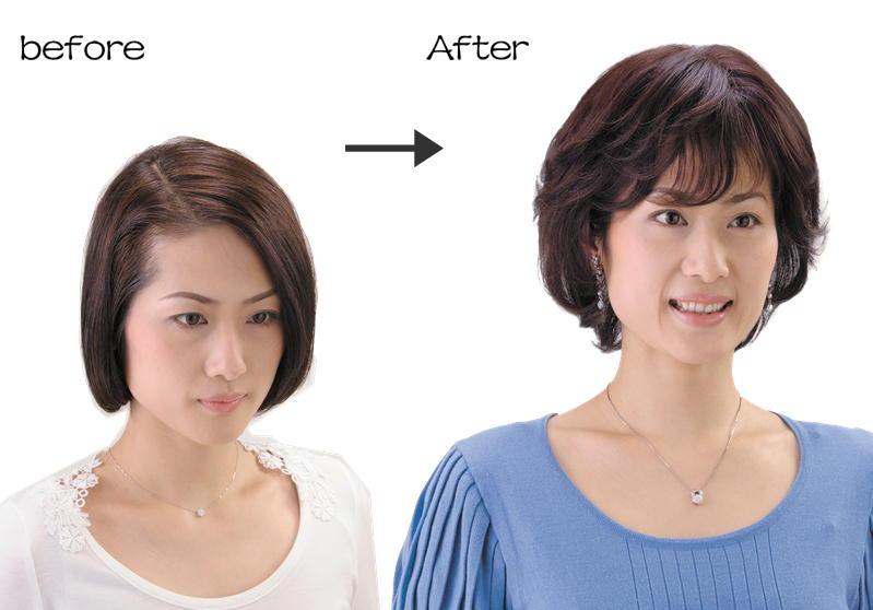 ソフトネットヘアピース 人毛100% SO-110 自然色(黒)/栗色(茶) ボリュームアップ レディース 女性用 ナチュラル 部分かつら