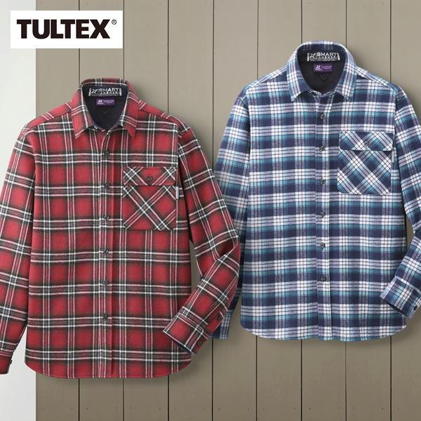 TULTEX 裏フリースあったかボンディングシャツ2色組 LX69520 タルテックス メンズ ファッション ネルシャツ