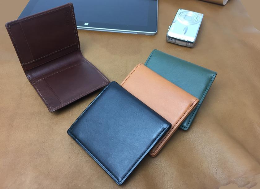 スィンリー THINLY SLBS03 ボックス型小銭入れ付き財布 二つ折り 超薄型 スムース 牛革/サイフ/メンズ/薄型財布/BOX/日本製