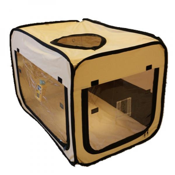 ペット用酸素室 ペット オキシ ホテル スクエア【Mサイズ】リニューアルモデル 組み立て不要 小~中型動物用 酸素ケージ 酸素テント 酸素カプセル UNICOM