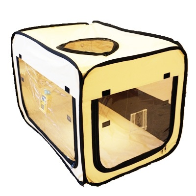 ペット用酸素室 ペット オキシ ホテルスクエア 【Sサイズ】 リニューアル 小型動物用 組み立て不要 酸素ケージ/酸素テント/酸素カプセル UNICOM